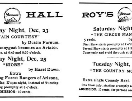 Roy's Hall Ads